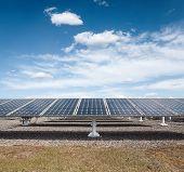 Solar Power Against A Blue Sky