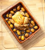 chicken baked with potatoes
