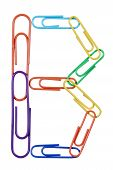 Paperclips Arranged Into The Shape Of The Letter B.