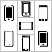 Smart phone icons set