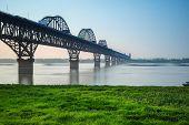 Jiujiang Yangtze River Bridge In Spring