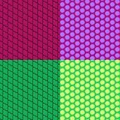 Abstract Seamless Colorful Patterns. Vector