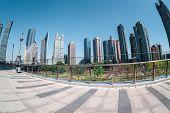 Shanghai Financial Center By Fisheye View