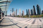 Fisheye View Of Shanghai Financial Center