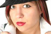 Beautiful Girl Wearing Hat poster