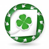 Vector Abstract Icon With Arrows And Cloverleaf