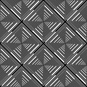 Design Seamless Monochrome Diamond Stripy Pattern