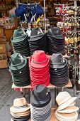 Austrian Hats In A Gift Shop