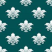 Damask style repeat arabesque pattern