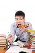 Student With Pizza