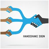 Cooperation Symbol,partnership Sign