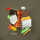 Strategy choice, infographic vector illustration