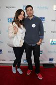 LOS ANGELES - APR 27:  Jenny Mollen, Jason Biggs at the Milk + Bookies Story Time Celebration at Ski