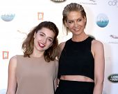 LOS ANGELES - APR 25:  Ava Deluca-Verley, Jenna Elfman at the 2014 LA Modernism Show Opening Night a