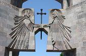 The main entrance to the monastery Echmiadzin, Armenia