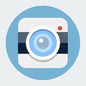 Camera flat icon