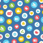 Social network seamless pattern