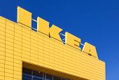 Samara, Russia - April 19, 2014: Sign Ikea At Ikea Samara Store. Ikea Is The World's Largest Furnitu