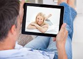 stock photo of video chat  - Close - JPG