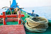 Close up of a traditional maldivian fishing boat dhoni