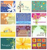 all occasion greeting card set 12 designs