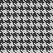 Grey mix hounds tooth check fabric