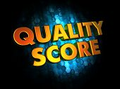 Quality Score - Gold 3D Words.