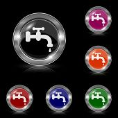 picture of spigot  - Silver shiny icons  - JPG