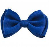 blue ribbon bow tie isolated on white background
