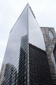 Modern Office Buildings. Bottom Up View.Chicago