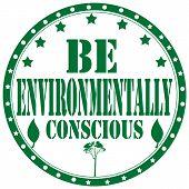 Be Environmentally Conscious-stamp