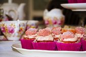 Pink cup-cakes