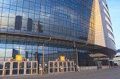 Minsk, Belarus - April, 26: Minsk-Arena Ice-Hockey Sport Complex Security Check Point