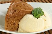 Fudge Cake  With Ice Cream