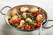 Shrimps and Asparagus stir-fry