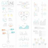 Flat and simple easy colorful outline vector infographic elements
