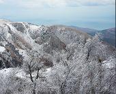 Crimea Mountains In Winter