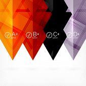 Hi-tech geometric futuristic business background - trendy trianlge infographic layouts