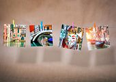 collage of pictures of cityscapes of Venice. Italy