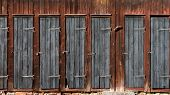 Doors On Wooden Shed