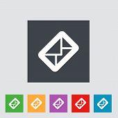 Envelope flat icon.