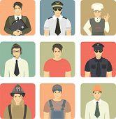 Set Of Avatars People Occupations