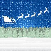 Santa Claus riding on a reindeer