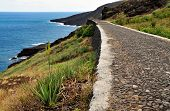 Cobblestone Road By The Coastline