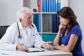 Doctor Talking With Worried Patient