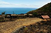 Homes By The Road And Sea In Fogo, Cabo Verde