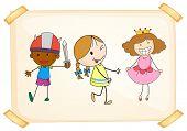Illustration of many children