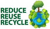 image of reuse recycle  - Illustration of recycling sign - JPG