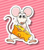 Illustration of a mouse and cheese