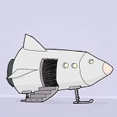 Space Ship With Open Door